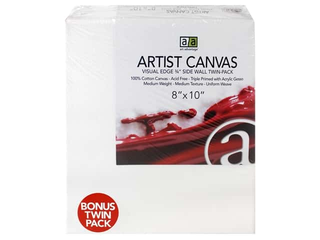 Art Advantage Artist Canvas 8 x 10 in. Twin Pack