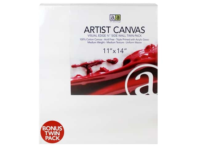 Art Advantage Artist Canvas 11 x 14 in. Twin Pack