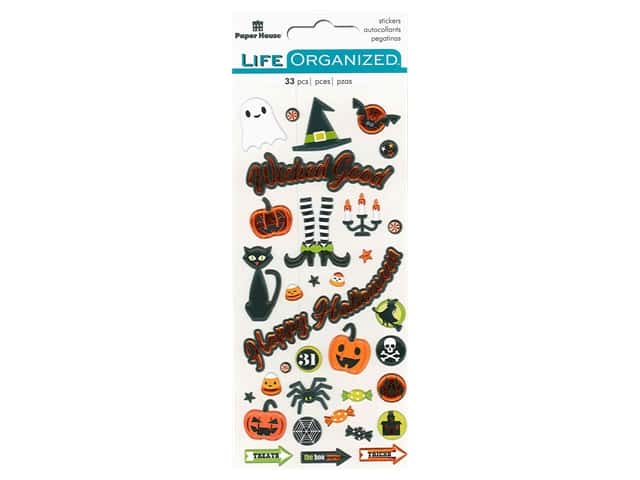 Paper House Collection Life Organized Sticker Puffy Halloween