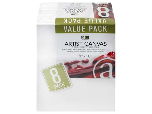 Art Advantage Artist Canvas 8 x 10 in. 8 pc.