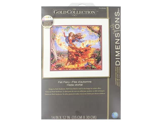 Dimensions Counted Cross Stitch Kit 14 x 12 in. Fall Fairy