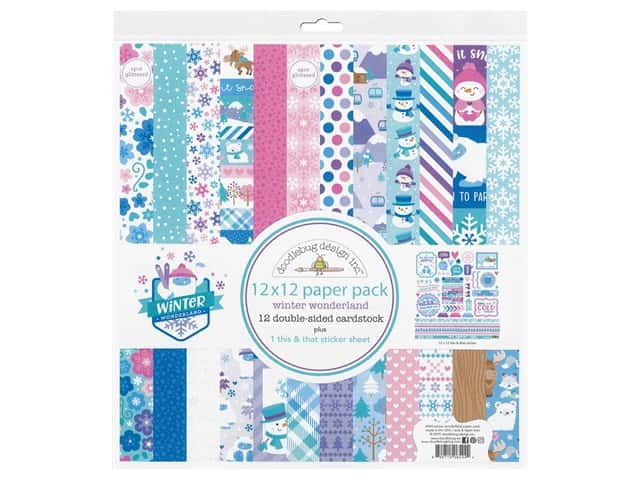 Doodlebug Collection Winter Wonderland Paper Pack 12 in. x 12 in.