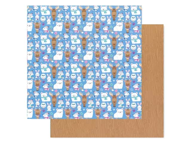 Doodlebug Collection Winter Wonderland Paper 12 in. x 12 in.  Snow Cozy