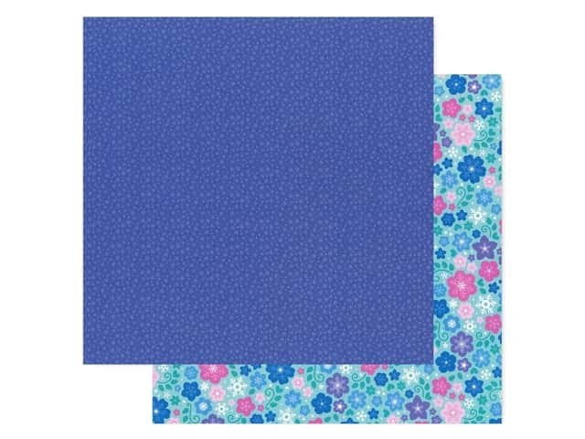 Doodlebug Collection Winter Wonderland Paper 12 in. x 12 in. Nightfall