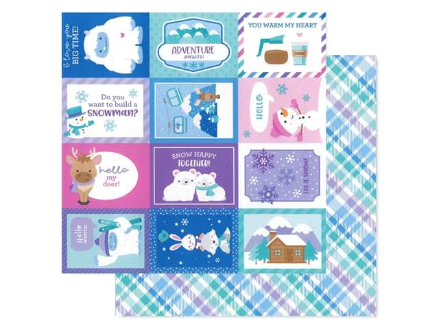 Doodlebug Collection Winter Wonderland Paper 12 in. x 12 in. Cozy Cardigan