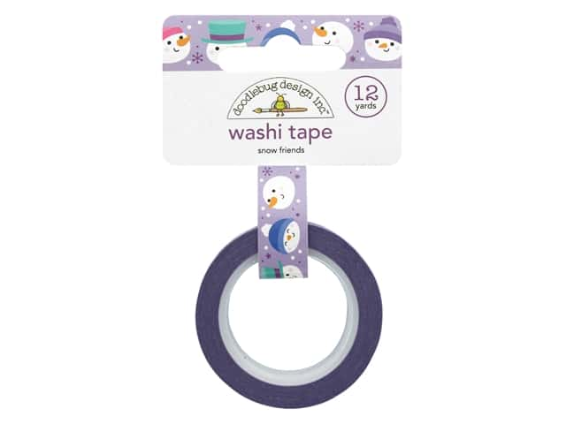 Doodlebug Collection Winter Wonderland Washi Tape Snow Friends