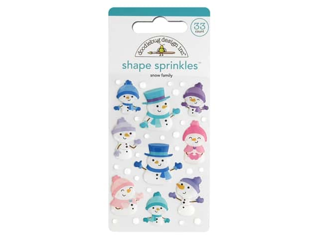 Doodlebug Collection Winter Wonderland Sprinkles Shape Snow Family