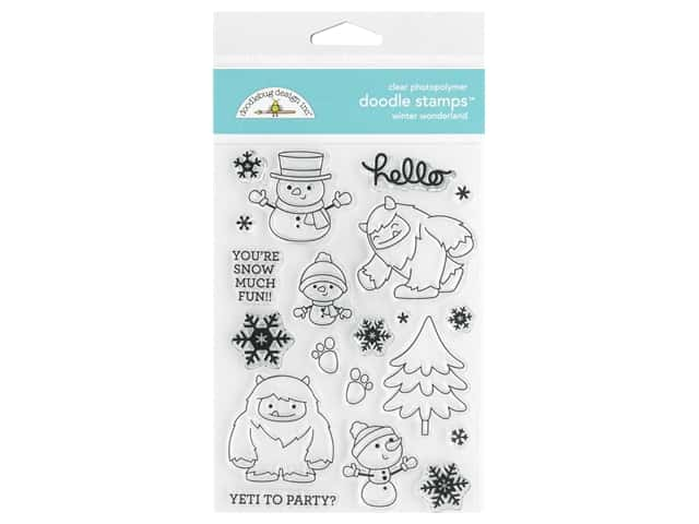 Doodlebug Collection Winter Wonderland Doodle Stamps Winter Wonderland