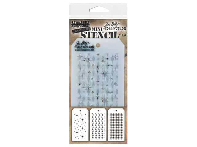 Stampers Anonymous Tim Holtz Layering Mini Stencil Set #44