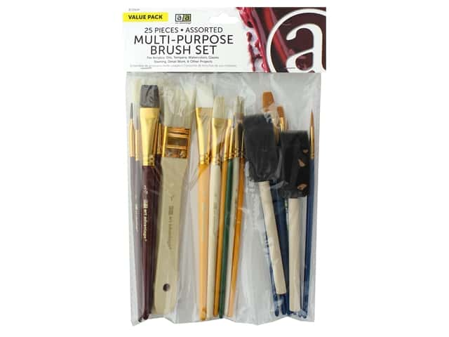 Art Advantage Multi-Purpose Brush Set 25 pc.