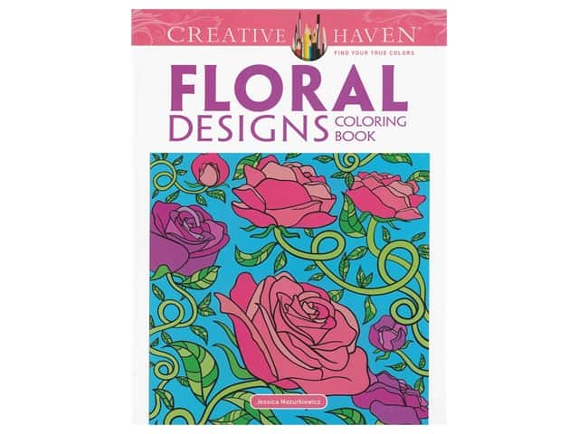 Dover Publications Creative Haven Floral Design Coloring Book