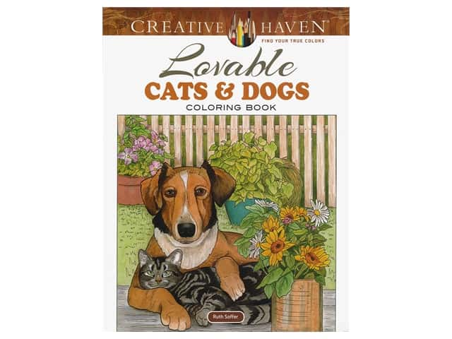 Dover Publications Creative Haven Lovable Cats And Dogs Coloring Book