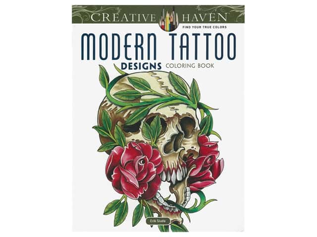 Dover Publications Creative Haven Modern Tattoo Designs Coloring Book