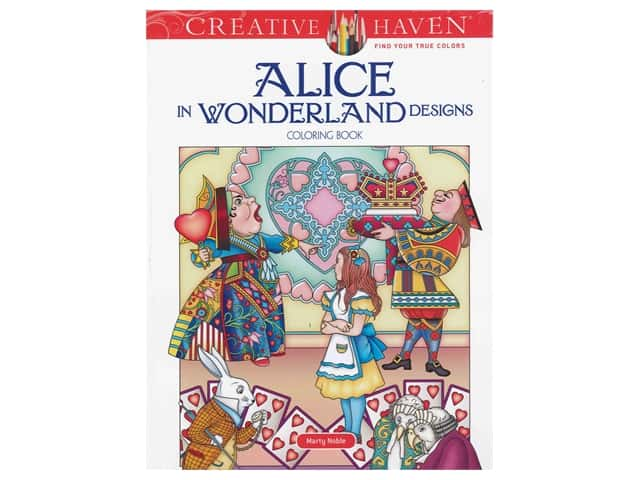 Dover Publications Creative Haven Alice In Wonderland Design Coloring Book