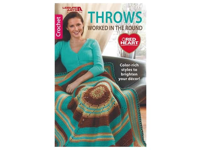 Leisure Arts Throws Worked In The Round Crochet Book