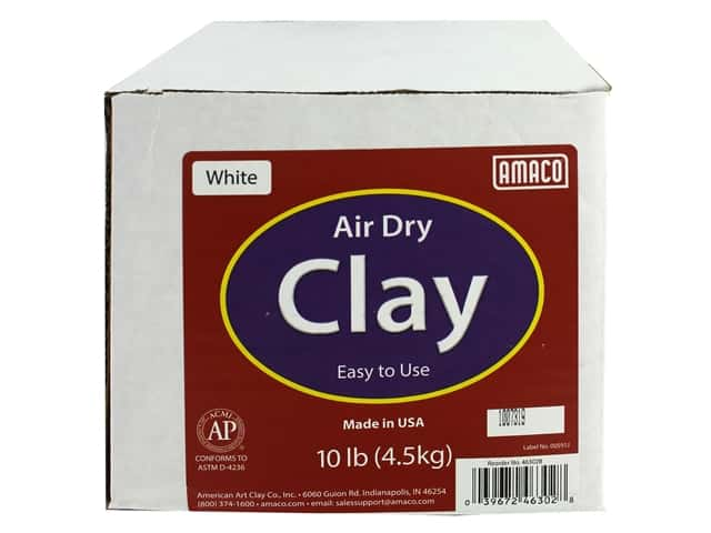 AMACO Air Dry Clay - White 10 lb.