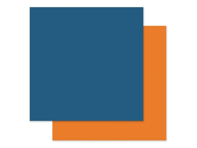 Echo Park Collection I Love My Cat Paper 12 in. x 12 in. Blue/Orange