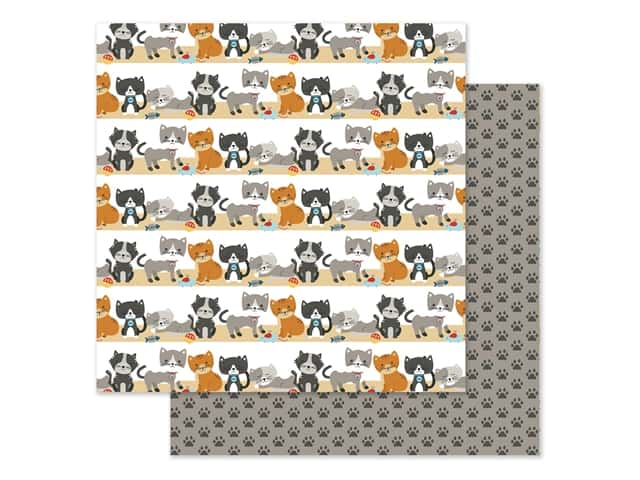 Echo Park Collection I Love My Cat Paper 12 in. x 12 in. Purrfect Day