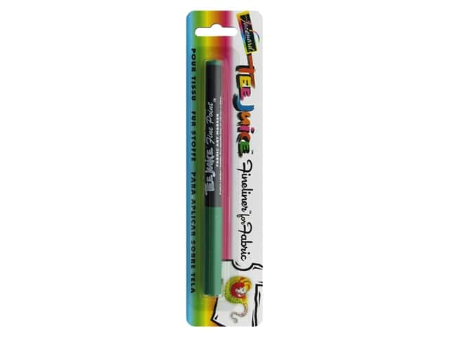 Jacquard Tee Juice Fabric Marker Fineliner Green