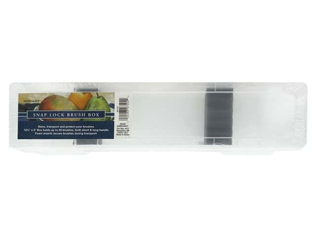 Pro Art Brush Box With Insert 12.5 in. x 3 in. Clear