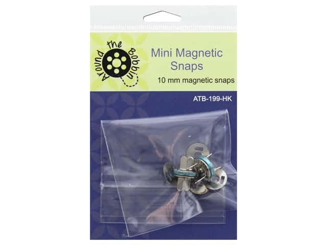 Around The Bobbin Mini Magnetic Snaps 10 mm 2 Sets