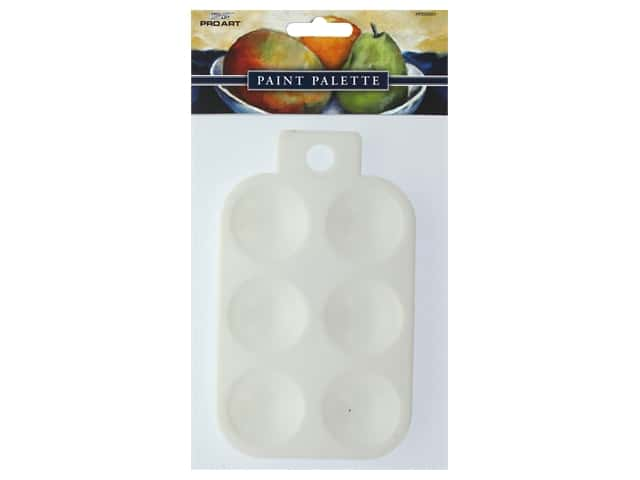 Pro Art 6-Well Rectangle Plastic Palette Tray