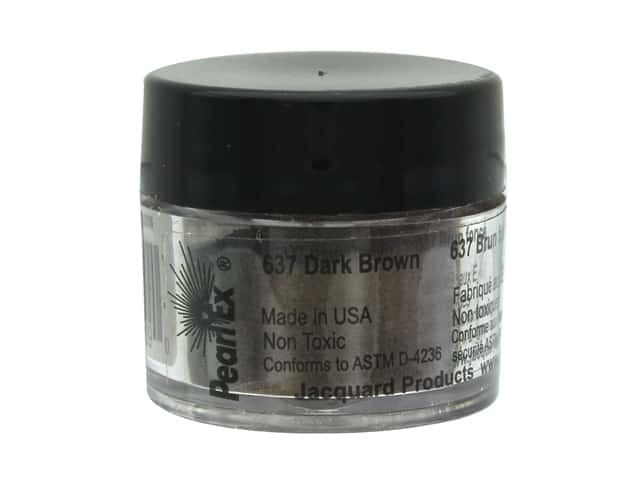 Jacquard Pearl-Ex Pigment 0.11 oz. Dark Brown