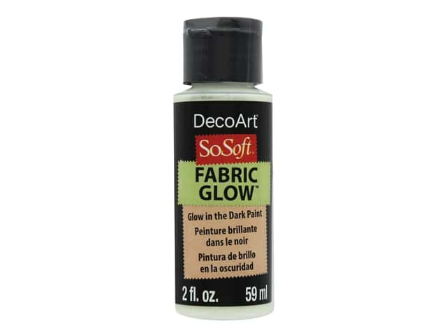 DecoArt SoSoft Fabric Paint 2 oz. Medium Glow