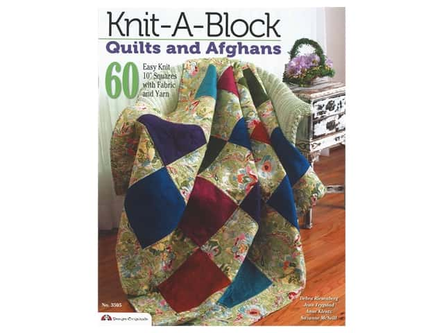 Design Originals Knit A Block Quilts & Afghans Book