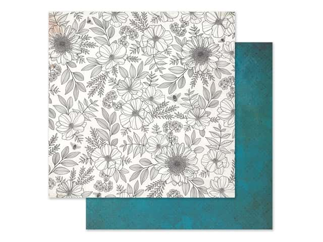 American Crafts Collection Vicki Boutin Wildflower & Honey Paper 12 in. x 12 in. Full Bloom