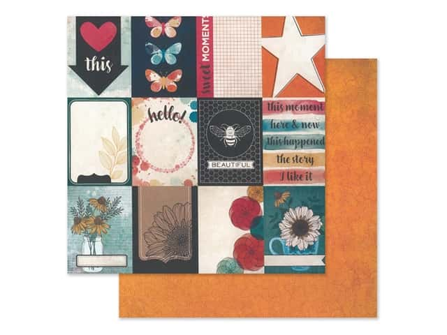 American Crafts Collection Vicki Boutin Wildflower & Honey Paper 12 in. x 12 in. Mingle