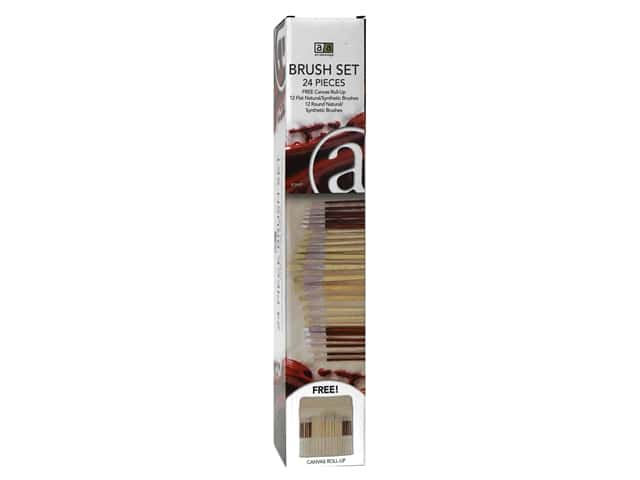 Art Advantage Brush Set Oil/Acrylic 24 pc