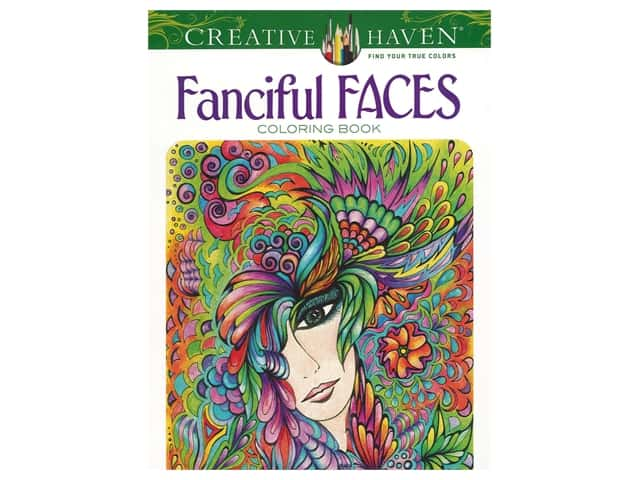 Dover Publications Creative Haven Fanciful Faces Coloring Book