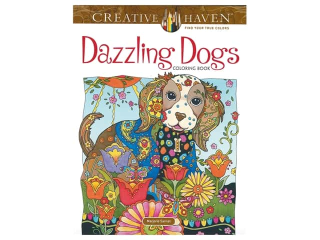 Dover Publications Creative Haven Dazzling Dogs Coloring Book