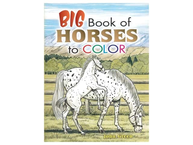 Dover Publications Big Book Of Horses To Color