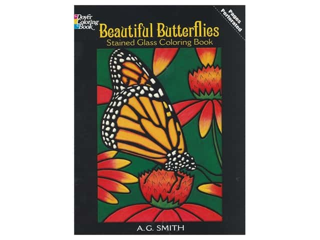 Dover Publications Beautiful Butterflies Stained Glass Coloring Book