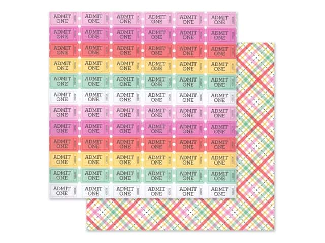 Doodlebug Collection Love Notes Paper 12 in. x 12 in. Forever Plaid