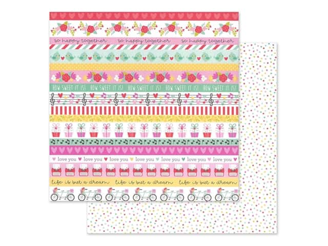 Doodlebug Collection Love Notes Paper 12 in. x 12 in. Sweet Sprinkles