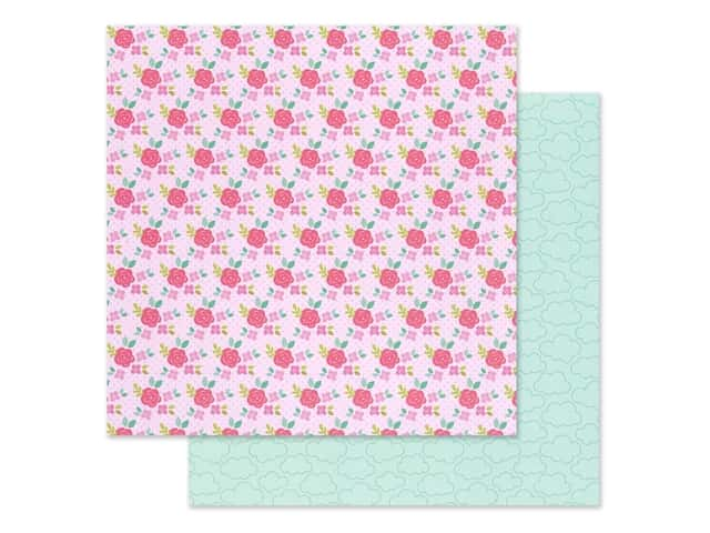 Doodlebug Collection Love Notes Paper 12 in. x 12 in. Rose Trellis