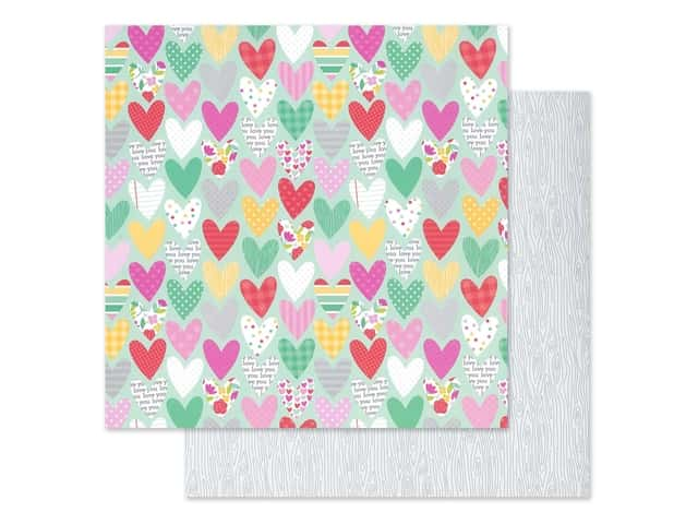Doodlebug Collection Love Notes Paper 12 in. x 12 in. Sweet Hearts