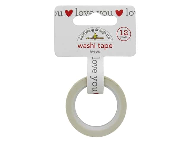 Doodlebug Collection Love Notes Washi Tape Love You