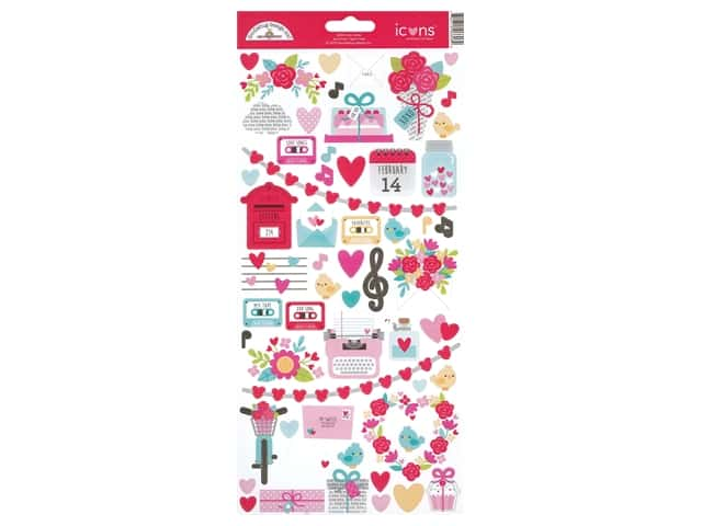 Doodlebug Collection Love Notes Sticker Icon Love Notes