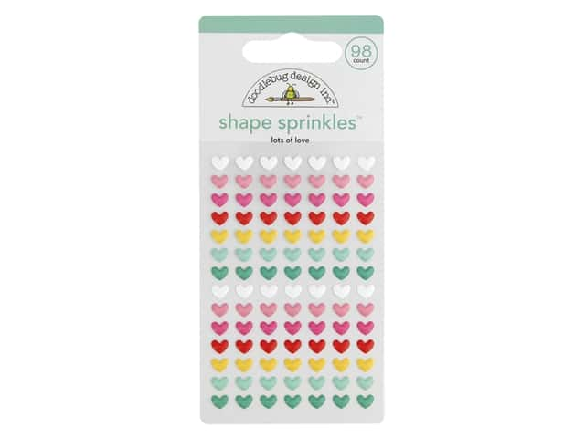 Doodlebug Collection Love Notes Sprinkles Shape Lots Of Love