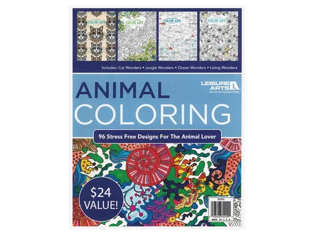 Leisure Arts Animal Coloring Book Bundle