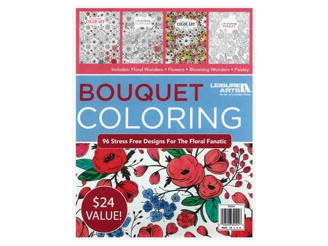 Leisure Arts Bouquet Coloring Book Bundle