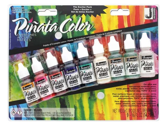 Jacquard Pinata Color Alcohol Ink Overtones Exciter Pack 9 pc