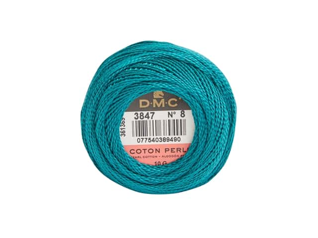 DMC Pearl Cotton Ball Size 8 #3847 Teal Green
