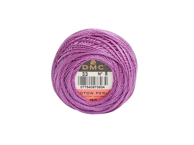 DMC Pearl Cotton Ball Size 8 #0033 Fuchsia