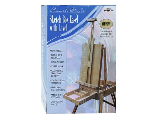 Pro Art French Style Sketch Box Easel with Level