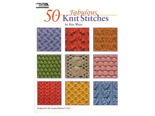 Leisure Arts 50 Fabulous Knit Stitches Book